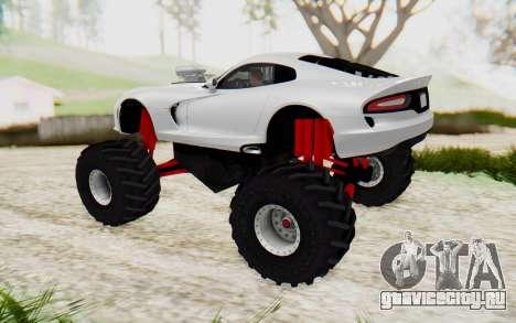 Dodge Viper SRT GTS 2012 Monster Truck для GTA San Andreas вид слева