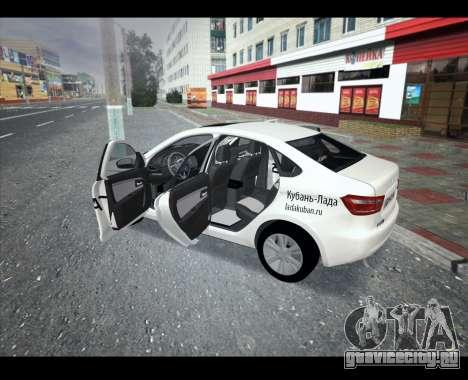 Lada Vesta VESTATEST для GTA San Andreas вид слева