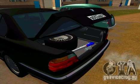BMW 740i E38 для GTA San Andreas вид сверху