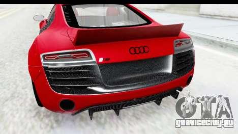 Audi R8 5.2 V10 Plus LB Walk для GTA San Andreas вид сзади