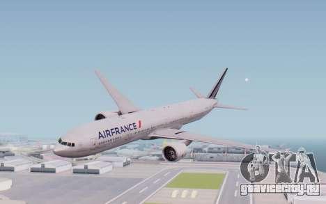 Boeing 777-300ER France Air для GTA San Andreas вид сзади слева