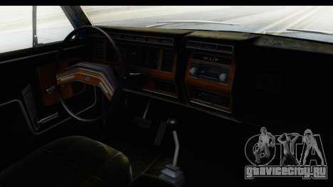 Ford Bronco 1980 для GTA San Andreas вид изнутри
