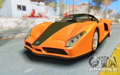 GTA 5 Grotti Cheetah IVF для GTA San Andreas вид сзади слева