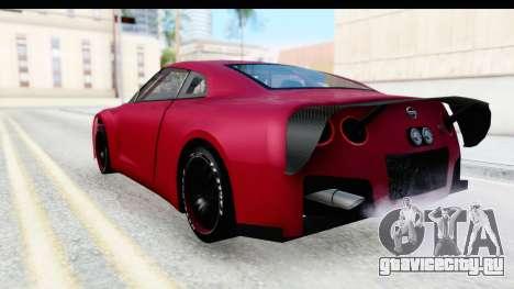 Nissan GT-R R35 Top Speed для GTA San Andreas вид слева