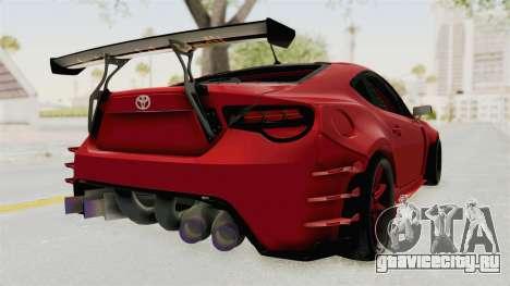 Toyota GT86 Drift Edition для GTA San Andreas вид сзади слева