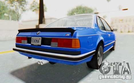 BMW M635 CSi (E24) 1984 HQLM PJ1 для GTA San Andreas вид слева