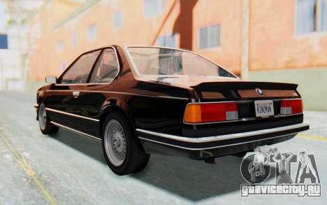 BMW M635 CSi (E24) 1984 HQLM PJ3 для GTA San Andreas вид слева