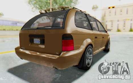 GTA 5 Vapid Minivan для GTA San Andreas вид слева