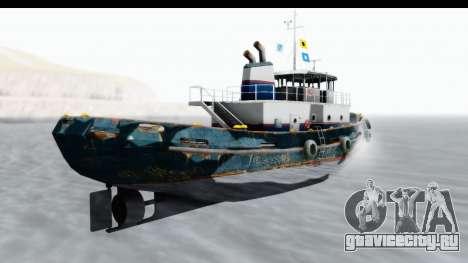 GTA 5 Buckingham Tug Boat v1 для GTA San Andreas вид слева