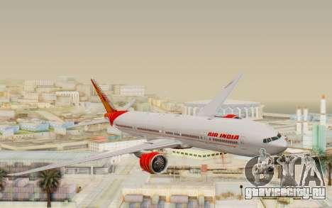 Boeing 777-300ER India Air для GTA San Andreas вид сзади слева