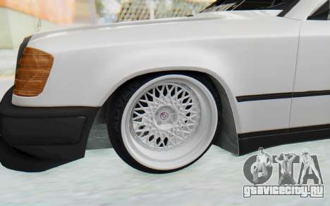 Mercedes-Benz W124 Stance Works для GTA San Andreas вид сзади