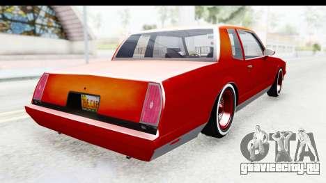 Chevrolet Monte Carlo Breaking Bad для GTA San Andreas вид сзади слева