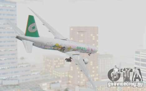 Boeing 777-300ER Eva Air v1 для GTA San Andreas вид справа