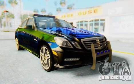 Mercedes-Benz E63 German Police Blue-Yellow для GTA San Andreas