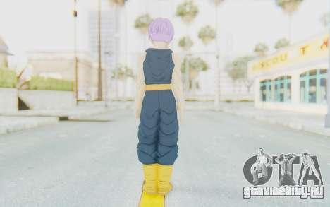 Dragon Ball Xenoverse Future Trunks Shirt для GTA San Andreas третий скриншот