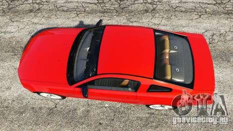 Ford Mustang GT 2005 для GTA 5 вид сзади