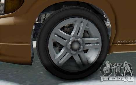GTA 5 Vapid Minivan для GTA San Andreas вид сзади