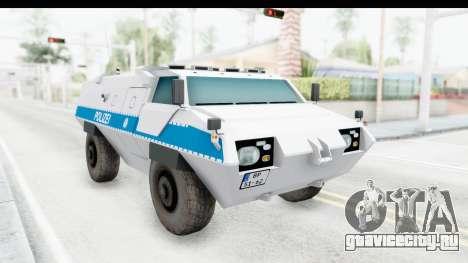 Hermelin TM170 Polizei для GTA San Andreas вид справа