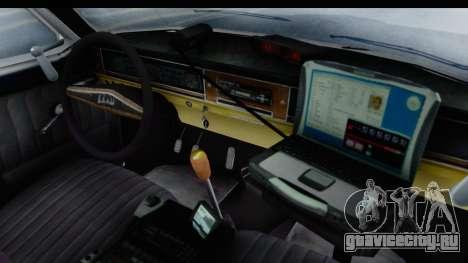 ГАЗ 24 Police Highway Patrol для GTA San Andreas вид изнутри