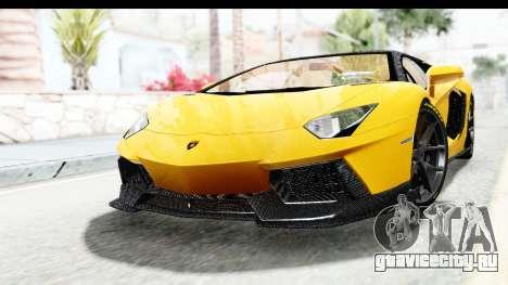 Lamborghini Aventador LP700-4 LB Walk для GTA San Andreas вид сзади слева