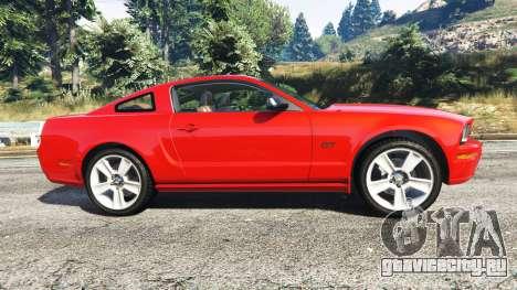 Ford Mustang GT 2005 для GTA 5 вид слева