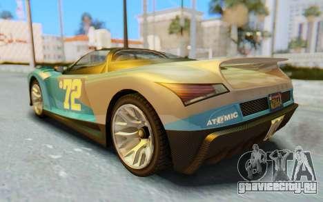 GTA 5 Grotti Cheetah IVF для GTA San Andreas салон