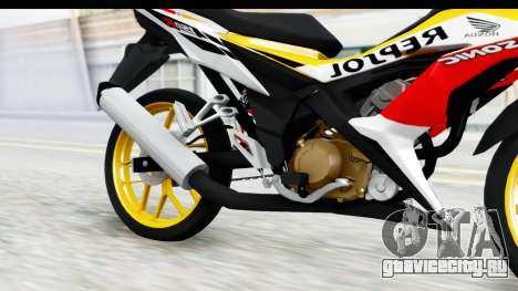 Honda 150R Sonic X IDFR для GTA San Andreas вид изнутри