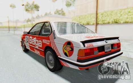 BMW M635 CSi (E24) 1984 HQLM PJ2 для GTA San Andreas салон