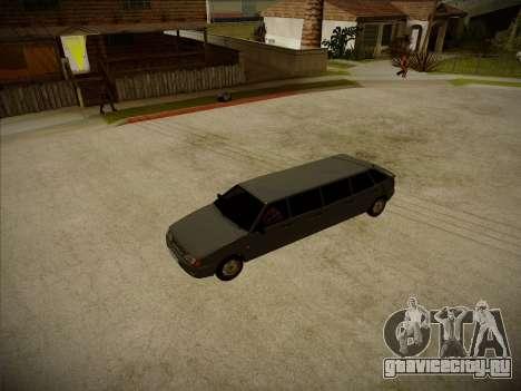 ВАЗ 2114 Девятидверная HQ модель для GTA San Andreas вид изнутри