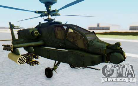 AH-64 Apache для GTA San Andreas вид справа