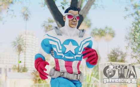 Marvel Heroes - Capitan America Sam Wilson для GTA San Andreas