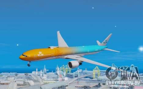 Boeing 777-300ER KLM - Royal Dutch Airlines v4 для GTA San Andreas