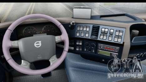 Volvo FMX Euro 5 v2.0 для GTA San Andreas вид изнутри