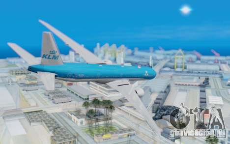 Boeing 777-300ER KLM - Royal Dutch Airlines v5 для GTA San Andreas вид слева