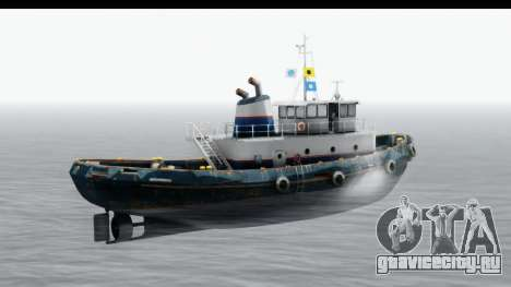 GTA 5 Buckingham Tug Boat v2 для GTA San Andreas вид сзади слева