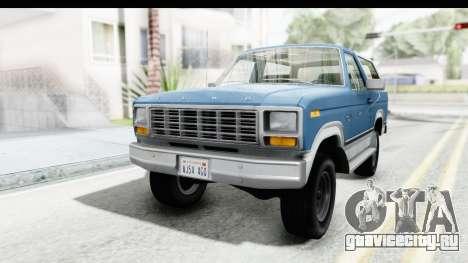 Ford Bronco 1980 для GTA San Andreas вид сзади слева