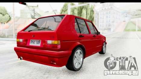 Volkswagen Golf Citi 1.8 1998 для GTA San Andreas вид сзади слева
