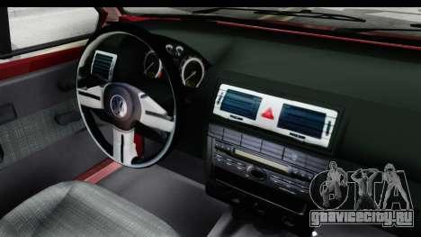 Volkswagen Golf VeloCiti 2008 Updated для GTA San Andreas вид изнутри