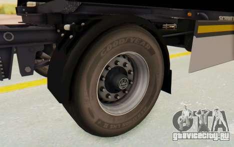 MAN TGA Energrom Edition Trailer v1 для GTA San Andreas вид сзади