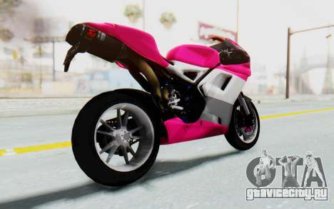 Ducati 1098R High Modification для GTA San Andreas вид справа