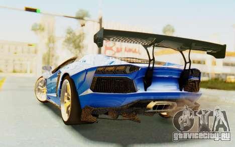 Lamborghini Aventador LP700-4 LB Walk Fenders для GTA San Andreas вид справа