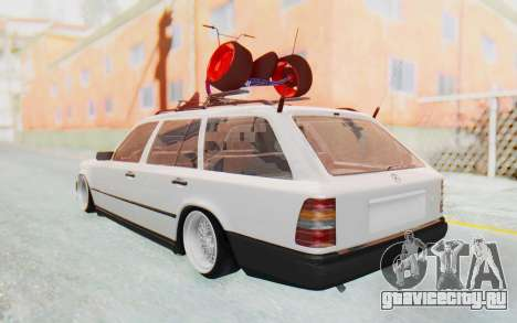 Mercedes-Benz W124 Stance Works для GTA San Andreas вид сзади слева