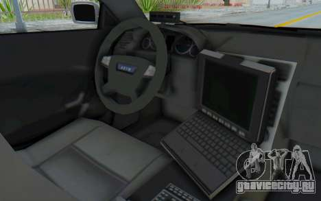ASYM Desanne XT Pursuit v3 для GTA San Andreas вид изнутри