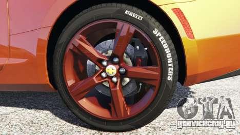 Chevrolet Camaro SS 2016 v2.0 для GTA 5 вид сзади справа