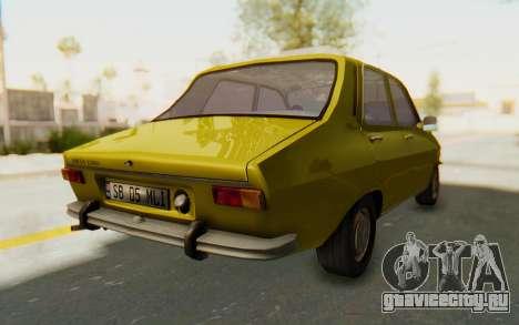 Dacia 1300 Stock для GTA San Andreas вид сзади слева