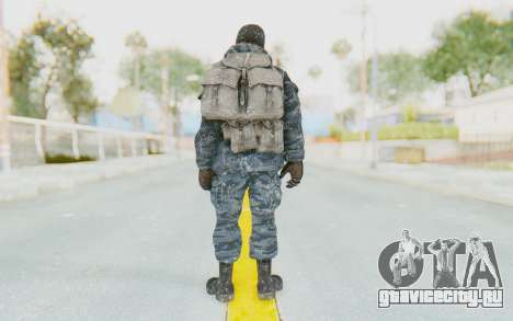 COD BO Russian Soldier Winter Balaclava для GTA San Andreas третий скриншот