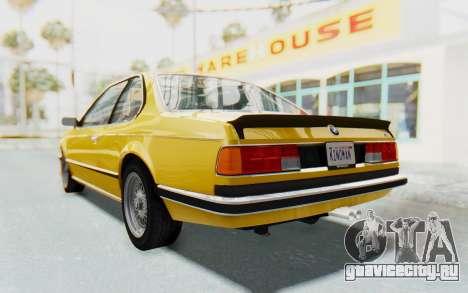 BMW M635 CSi (E24) 1984 HQLM PJ2 для GTA San Andreas вид справа
