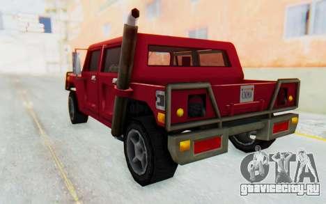 Civilian Patriot для GTA San Andreas вид слева