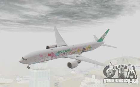 Boeing 777-300ER Eva Air v1 для GTA San Andreas вид сзади слева