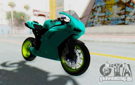 Ducati 1098R Streetrace для GTA San Andreas вид справа